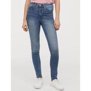 H&M &Denim : Skinny Distressed High Rise Jean 26